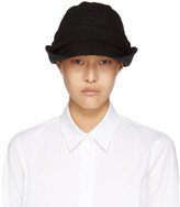 Y's Black Brim Fold Cloche Hat
