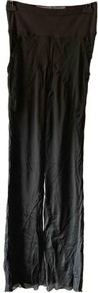 Rick Owens Green Silk Trousers