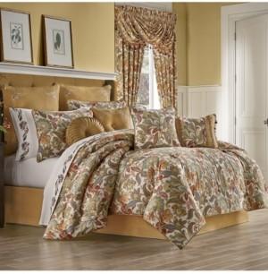 J Queen New York Five Queens Court August King 4 Piece Comforter Set Bedding