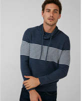 Express striped funnel neck sweater