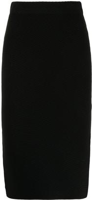 Emporio Armani Black High-Waist Pencil Skirt