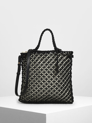 Charles & Keith Knitted Tote Bag