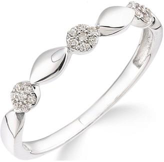 Love Diamond 9ctWhite Gold 10 Point Diamond Commitment Ring
