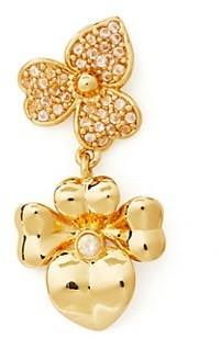 Kate Spade Goldtone & Cubic Zirconia Pave Pansy Drop Earrings