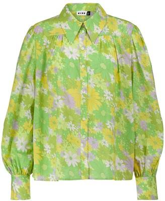 Rixo Blake floral cotton shirt
