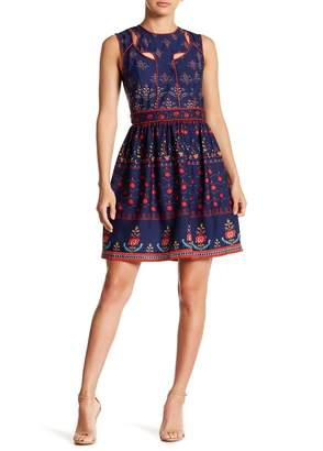 Alexia Admor Jewel Neck Cutout Dress