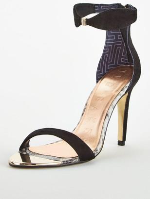 Ted Baker Aurelis Suede Bow Ankle Strap Sandal - Black