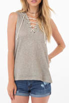 Others Follow Hooded Lace-Up Top
