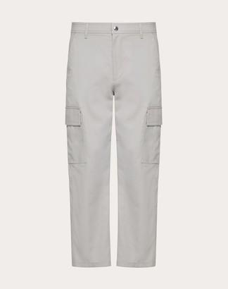 Valentino Cargo Pants Man Grey Cotton 100% 44