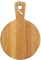 Kitchen Craft MasterClass Mini Round Wooden Serving Paddle/Antipasti Board, Brown, 15 x 21.5 cm