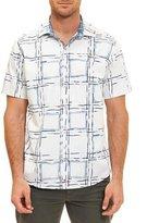 Robert Graham Square-Print Short-Sleeve Shirt, White