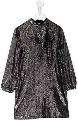 No21 Kids Bow Sequin Dress