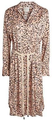 MUNTHE Exotic Leopard Print Shirt Dress