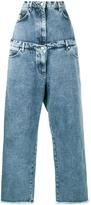 Natasha Zinko Layered Wide Leg Jeans