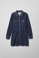 Weekday Carol Rinsed Denim Dress - Blue