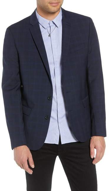 The Kooples Slim Fit Check Blazer