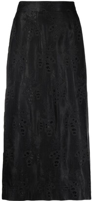 Moschino Pre-Owned 2000s embroidered pattern A-line skirt
