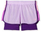 Champion Girls' 2 in 1 Mesh Shorts Lavender Sparkle