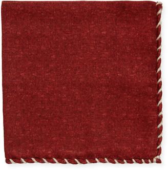 Brunello Cucinelli Men's Solid Wool Pocket Square