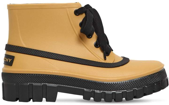 Givenchy 50mm Glaston Rubber Ankle Boots
