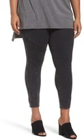 Nordstrom Plus Size Women's Moto Washed Cotton Blend Leggings