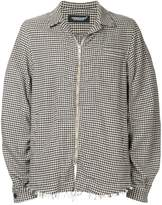 Undercover checked shirt jacket