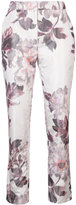 Brock Collection floral print cigarette trousers