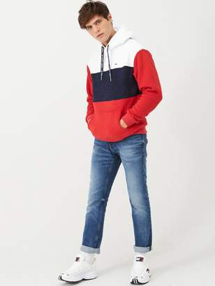 Tommy Jeans Bold Stripe Hoodie - Red/White/Blue