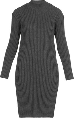Kenzo Pleated Wool Dress