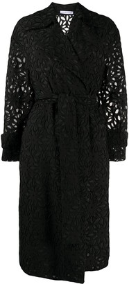 Harris Wharf London Embroidered Oversized-Fit Coat