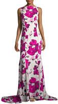 Oscar de la Renta Women's Silk Floral Gown