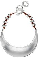 Robert Lee Morris Sculptural Suede Collar Necklace
