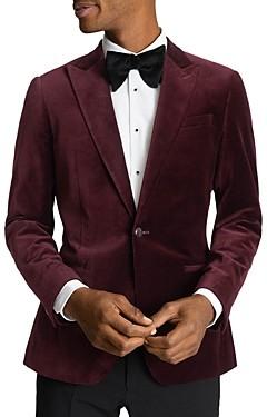 Reiss Slim Fit Peak Velvet Jacket