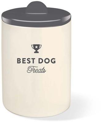 FRINGE STUDIO CERAMIC BEST DOG TREAT JAR grey