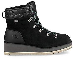 UGG Women's Birch Lace-Up Shearling Leather Boots