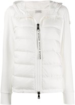 Moncler fabric and padded zipped jacket