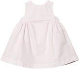 Cyrillus Pink Pleated Dress with Picot Trim