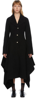 J.W.Anderson Black Wool Handkerchief SB Coat