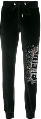 Philipp Plein Plein Star velvet track pants