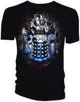 Doctor Who Monster Group Distressed Mens T-Shirt