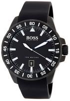 HUGO BOSS Men&s Deep Ocean Silicone Watch