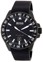 HUGO BOSS Men's Deep Ocean Silicone Watch
