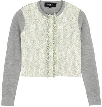 Paule Ka Boucle-tweed and silk-blend cardigan