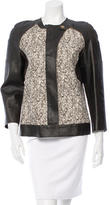 Derek Lam Calf Fur-Paneled Leather Jacket