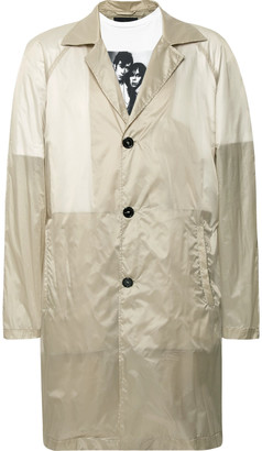 Raf Simons Layered Printed Cotton-Jersey and Shell Raincoat - Men - Neutrals