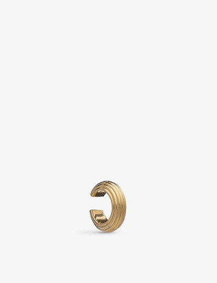 Rachel Jackson Chunky 22ct gold-plated sterling silver ear cuff