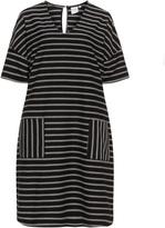 Junarose Plus Size Striped sweatshirt dress