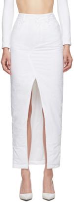 MM6 MAISON MARGIELA White Padded Mid-Length Skirt