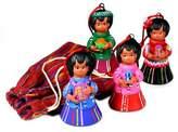 Ceramic ornaments (Set of 4), 'Shepherds'