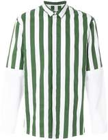 Sunnei striped panelled long sleeves shirt